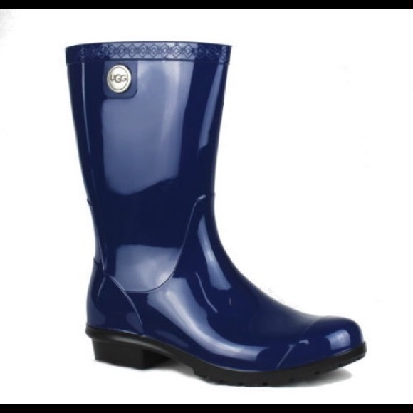 17c14817926 NEW UGG Sienna Womens Rubber Rain Boots Blue Jay NWT